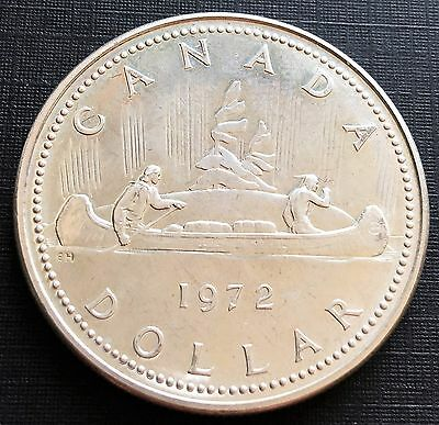 1972 Canada $1 Voyageur 0.500 Silver Dollar Coin - FREE COMBINED S/H