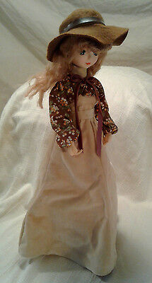 Kelvin Treasure Dolls Girl Doll Country Western Clothing Hat Ribbon VTG Japan