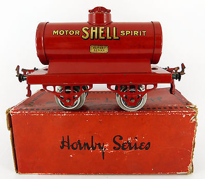 Early ( 1924 ) Hornby Series O Gauge Shell Tank Wagon ( Good Cond & Boxed