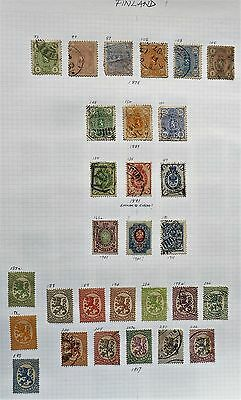 Finland - Page of Early Mint & F/used -1875 to 1917