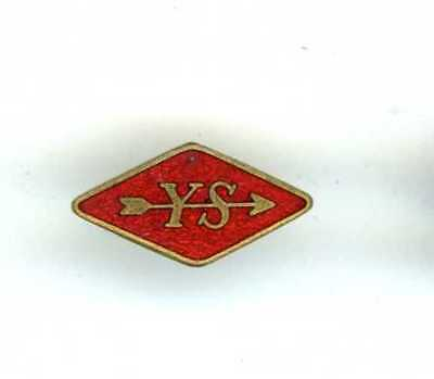 Y.s. = Young Socialists Enamel Badge - Labour Party Youth Section