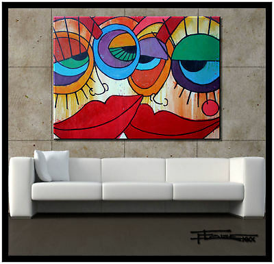 Painting Modern ABSTRACT CANVAS WALL ART 48x36 Large US artist ELOISExxx