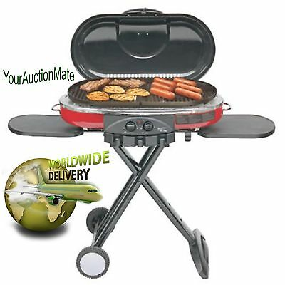 2-Burner Propane Grill Coleman RoadTrip LXE Portable Tailgating Camping RED