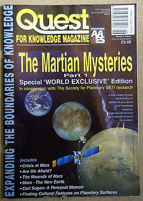 QUEST MAGAZINE Vol 1 No 3 Martian Mysteries Cydonian Face On Mars