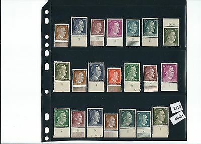 Mint stamp set #2113 / Adolph Hitler / Third Reich Issues / All stamps MNH