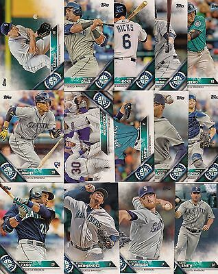 Topps 2016 Complete Set SEATTLE MARINERS-23 Cards