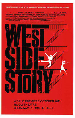 "West Side Story - 11""x17"" - Reproduction Broadway POSTER - West Side Story"