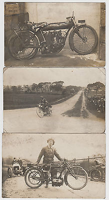 15 Early Motorcycle Event Real Photo Postcards Hill Race Manx Liverpool Region