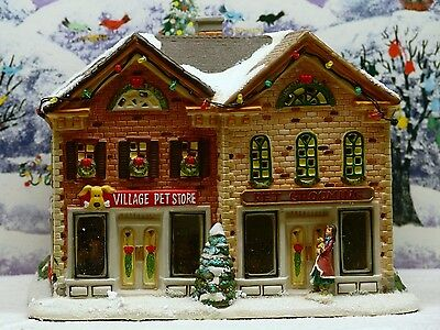 """St Nicholas Square Village Collection """"pet Store And Grooming Shop"""" ***exc. Cond"""