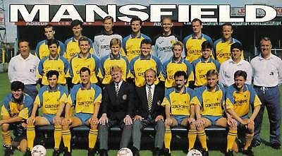 Mansfield Town Football Team Photo 1991-92 Season