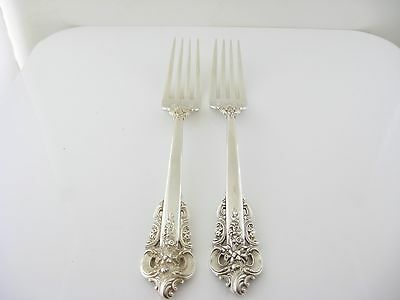 Sterling Silver Two Dinner Forks Wallace Grande Baroque 1941