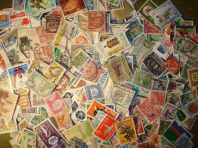 500 different stamps taken from old stamp albums