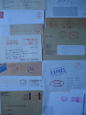 Collection of 40 different covers with franking/slogans from various countries