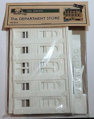 THE DEPARTMENT STORE FRONT by DSL SHOPS UNDECORATED O scale 1/43 On30 On3 MIP