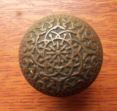 Antique Fancy Cast Bronze Eightfold Doorknob by Russell & Erwin c1875