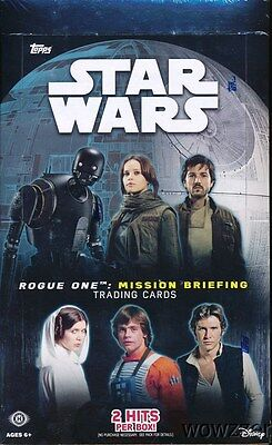 2016 Topps Star Wars Rogue One Mission Briefing Factory Sealed HOBBY Box-2 HITS
