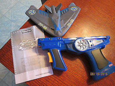 Fisher Price Shake n Go Flyers Blue Ghost Jet Fighter Plane RARE HTF Airplane