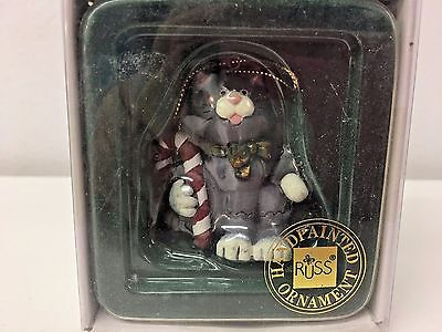 Russ Wags to Whiskers Hand Painted Cat Ornament