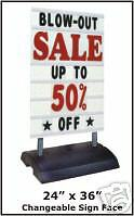 SIDEWALK SIGN Store SPRINGER Street Changeable curb deli Message Sign