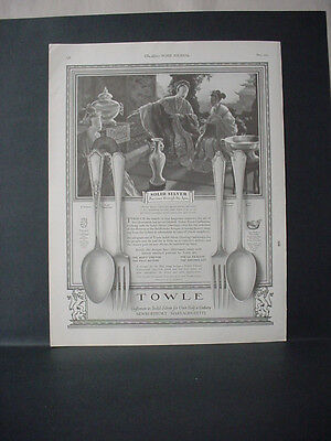 1924 Towle Silverware D'Orleans Lady Constance Chinese Man Vintage Print Ad11730