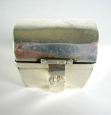 Dose / Pillendose aus 925er Sterling Silber Mexiko Silver Box / Pillbox 49g