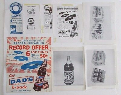 Vtg Dad's Rootbeer Advertising Poster Display Ads Cola