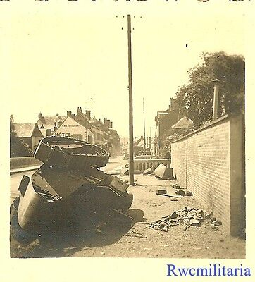 STREET FIGHT! KO'd French FT-17 Panzer Tank Knocked On Its A@#; 1940!!!