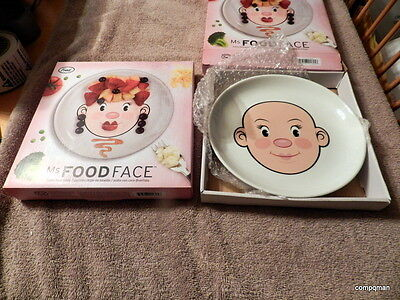 Fred & Friends Food Face Plates Ms Food Face Ms FOODFACE GET TWO