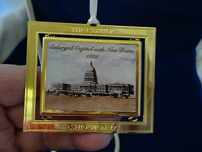 Us Congressional Holiday Ornament Enlarged Capital With New Dome 1855