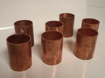 """7 Piece 1"""" x 1"""" Copper Coupling Plumbing Pipe Fittings Connector Nibco"""