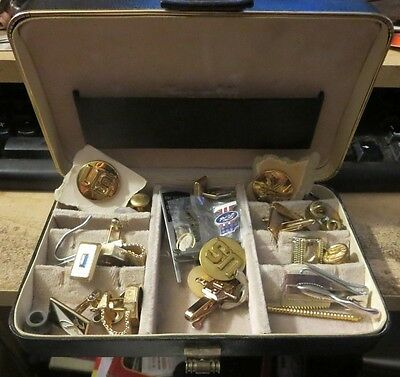 vintage lot of mens jewelry Tie tacs clasps Baseball Ford Hickock Swank