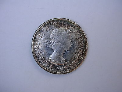 1963 Silver Canadian Half Dollar Canada World Coin 50 Cent Unc Prooflike