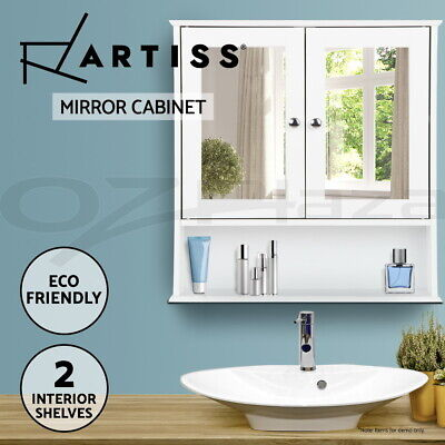 Storage Mirror Cabinet Bathroom Furniture Tallboy Toilet Cupboard Wall Hung