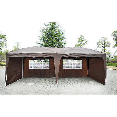 10x20ft Patio Pop Up Party Wedding Tent Gazebo Canopy Outdoor Event 4 Sidewall