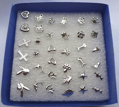 Wholesale lots Bulk 24 Pairs Mix Styles Silver Plated Unisex Stud Earrings Gift