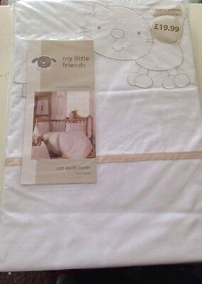My Little Friends Baby/Childrens Cot Quilt/Duvet Cover Brand New