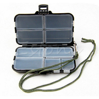 Fishing Lure Bait Tackle Waterproof Storage Bag Box Case With 9 Compartments New