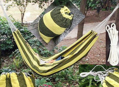 Cotton Travel Swing Hammock Storage Bag Portable Outdoor Camping Bed Hanging