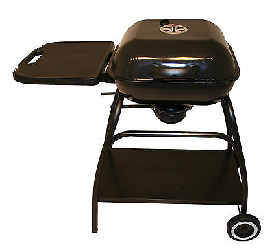 """Bentley 18"""" Portable Steel Square Charcoal Bbq Grill Garden Barbecue -Black"""