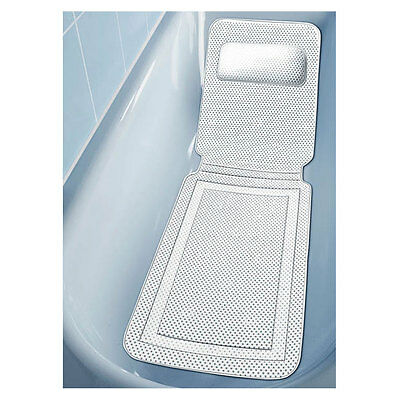 Anti Slip Bath Safety Mat with Neck Cushion Bathroom Suction Pads