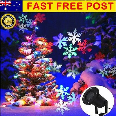Star Light Mutil-Snowflake Shower Laser LED Motion Projector Outdoor Christmas