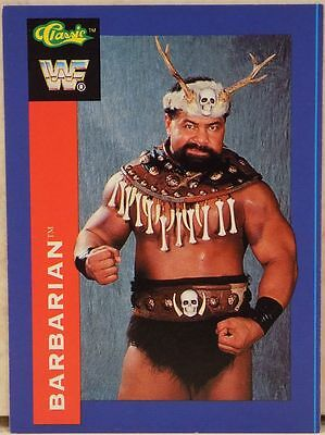 Wwf The Barbarian Classic Superstars Trading Card 122 1991 Wrestling Wwe Hasbro
