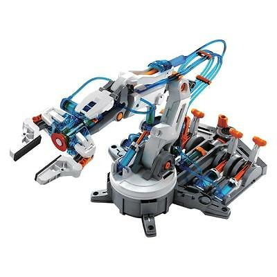Hydraulic Robot Arm Model Kit DIY Remote Controlled Kids Educational Toy