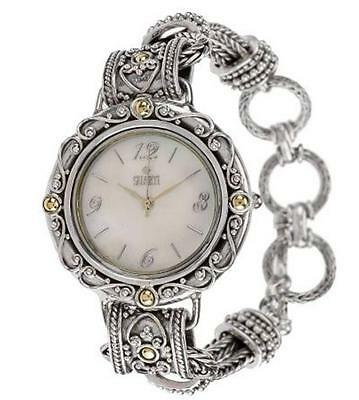 Suarti Bracelet Watch Sterling Silver & 18K Gold Hand Crafted Ltd Ed RRP $319.67