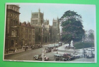 Bristol, The Cathedral (with interesting old cars) (Photochrom Co Ltd) - c1930