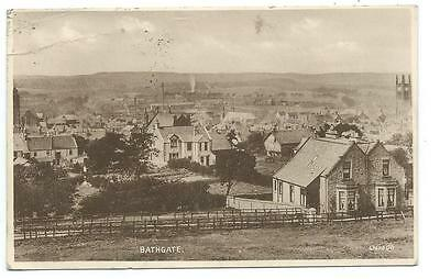 A 1938 View Over Bathgate In West Lothian. Black White Valentine Series Postcard