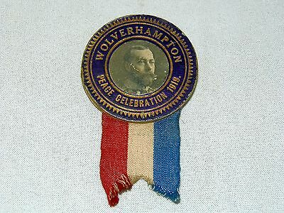 King George V, Wolverhampton Peace Celebration 1919 Badge.