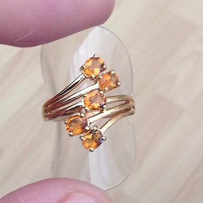 Gold On Silver Citrine Ring Stunning