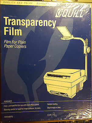 Transparency Film Quill 7-20239 - 100 Sheets - Factory Sealed