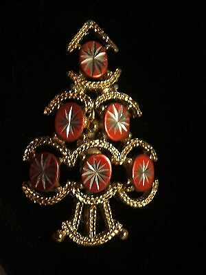 Rare  Old  Christmas  Tree  Pin   - Signed  GOLD CROWN INC